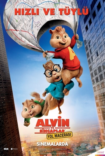 Alvin ve Sincaplar: Yol Macerası (Alvin and the Chipmunks: The Road Chip) (2016) Afişi