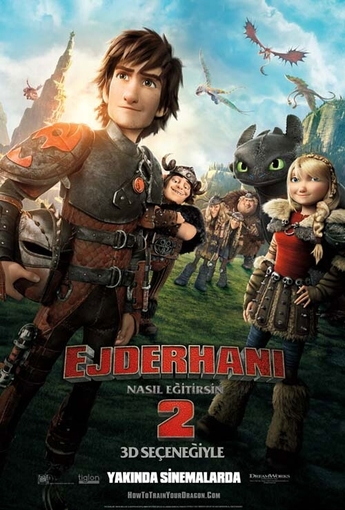 Ejderhanı Nasıl Eğitirsin 2 (3D) (How to Train Your Dragon 2 (3D)) (2014) Afişi