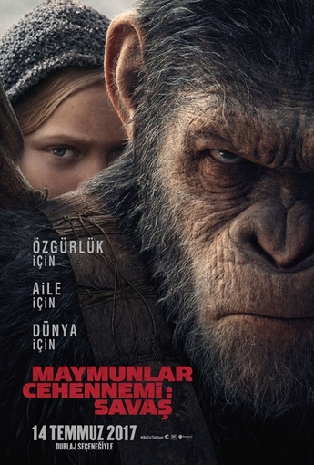 Maymunlar Cehennemi: Savaş (War for the Planet of the Apes) (2017) Afişi